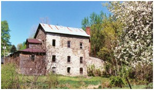 Rear View of Historic Stratton Flour Mill