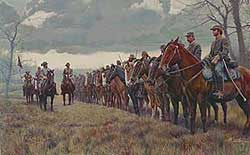 Print of Morgan's Raiders, by Mort Kunstler