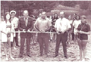 Dedication of the Schuler Park Swimming Area in 1971.