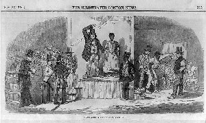 Slave auction in Richmond, Virginia, which closely resembled 